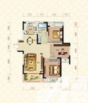 绿地臻城14#Q1户型3室2厅104.49㎡