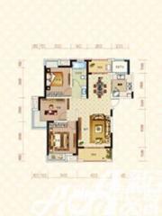 绿地臻城14#Q2户型3室2厅113.98㎡