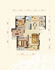 绿地臻城14#Q3户型3室2厅106.76㎡