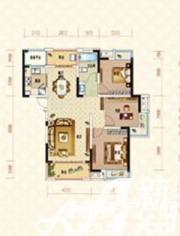 绿地臻城14#Q2户型3室2厅112.66㎡