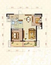 绿地臻城14#S1户型2室2厅84.5㎡