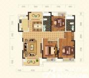 绿地臻城9#L1'户型3室2厅136.08㎡