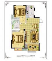 佳源中央城A3户型2室2厅87.4㎡
