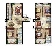 深业华府A户型 4室3厅4卫4室3厅142㎡