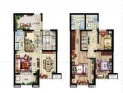 深业华府B户型 3室3厅3卫3室3厅100㎡