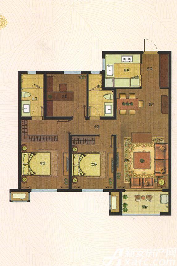 万科海上传奇F23室2厅115平米