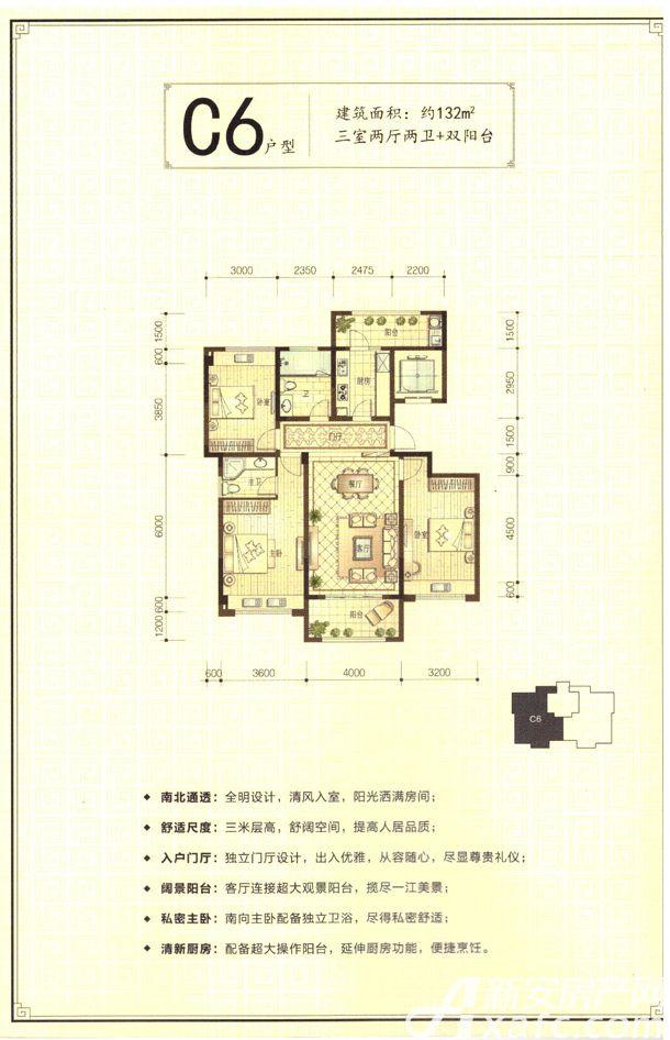 新安印象C63室2厅132平米