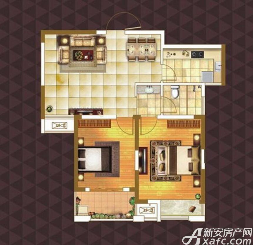 绿地臻城E2户型2室2厅85平米
