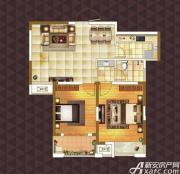 绿地臻城E2户型2室2厅85㎡