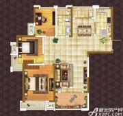 绿地臻城E3户型3室2厅106㎡