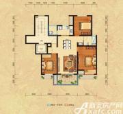 恒生秀山郡H户型三层3室2厅109㎡