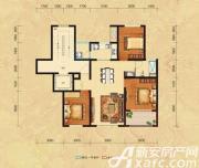 恒生秀山郡H户型六层3室2厅99㎡