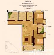 金色新天地4#01户型3室2厅122.64㎡