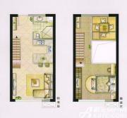 大台北公寓户型2室2厅55㎡