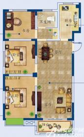 月亮湾G户型3室2厅98.5㎡