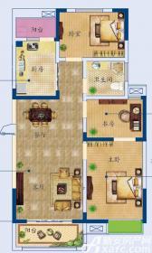 月亮湾C户型3室2厅95.76㎡