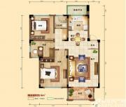 凡尔赛公馆D2户型 3室2厅1卫3室2厅88㎡