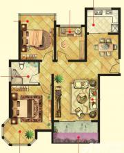 万成香格里拉F1户型3室2厅97㎡