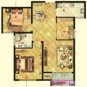 万成香格里拉E2户型3室2厅88㎡