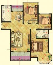 万成香格里拉D3户型3室2厅103㎡