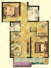 万成香格里拉D2户型3室2厅88㎡