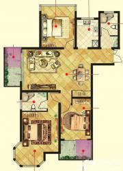 万成香格里拉D1户型3室2厅112㎡