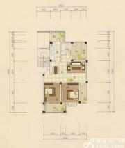 志城江山郡F-2户型(2—3)3室2厅90.5㎡