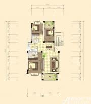 志城江山郡E-1户型3室2厅105.8㎡