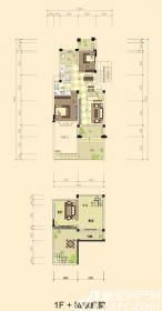 志城江山郡F1户型2室2厅90.5㎡