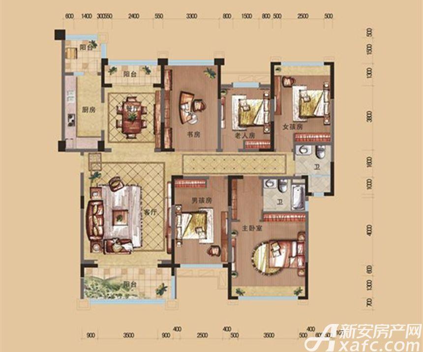 安庆碧桂园C6_25室2厅206平米