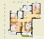 安庆碧桂园J475-A户型3室2厅88.73㎡