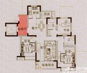 马山国际广场G2户型3室2厅119㎡