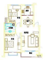 浦西新城D-10户型2室2厅95.23㎡