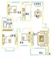 浦西新城D-6户型3室2厅112.71㎡