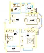 浦西新城D-9户型2室2厅100.09㎡