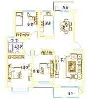 浦西新城D-12户型3室2厅116.43㎡