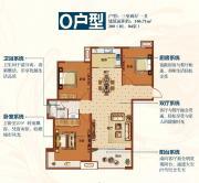 海棠湾O户型2室2厅106.71㎡