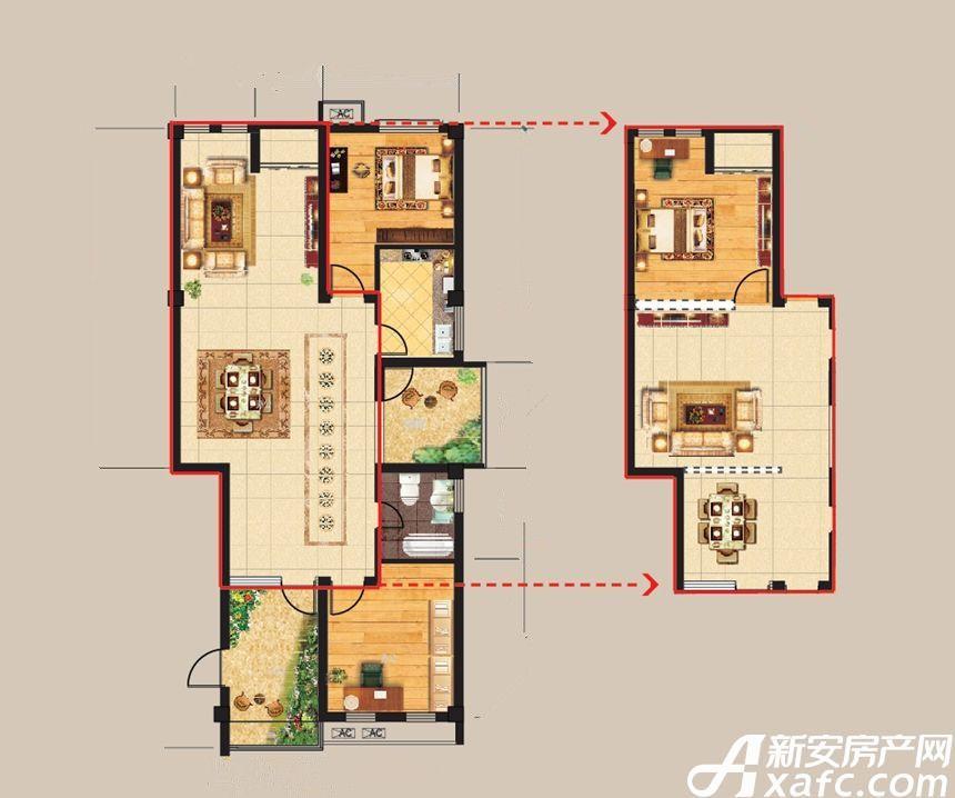 得月坊北楼3室2厅110平米