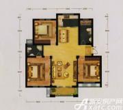 富春国际花园C1户型3室2厅121.21㎡