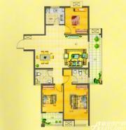 山水文苑E1户型3室2厅120.65㎡