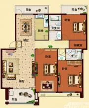 玉龙湾户型B73室2厅141.33㎡