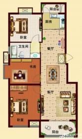玉龙湾户型A13室2厅111.33㎡