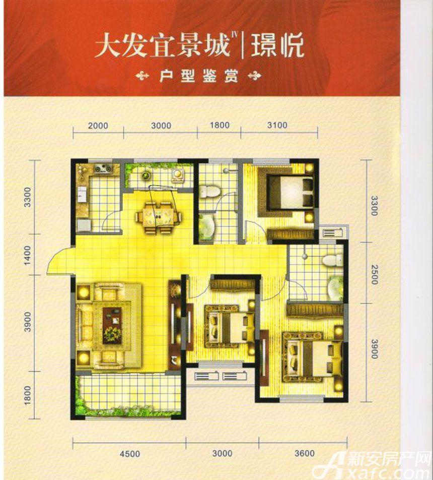 大发宜景城C23室2厅127.28平米