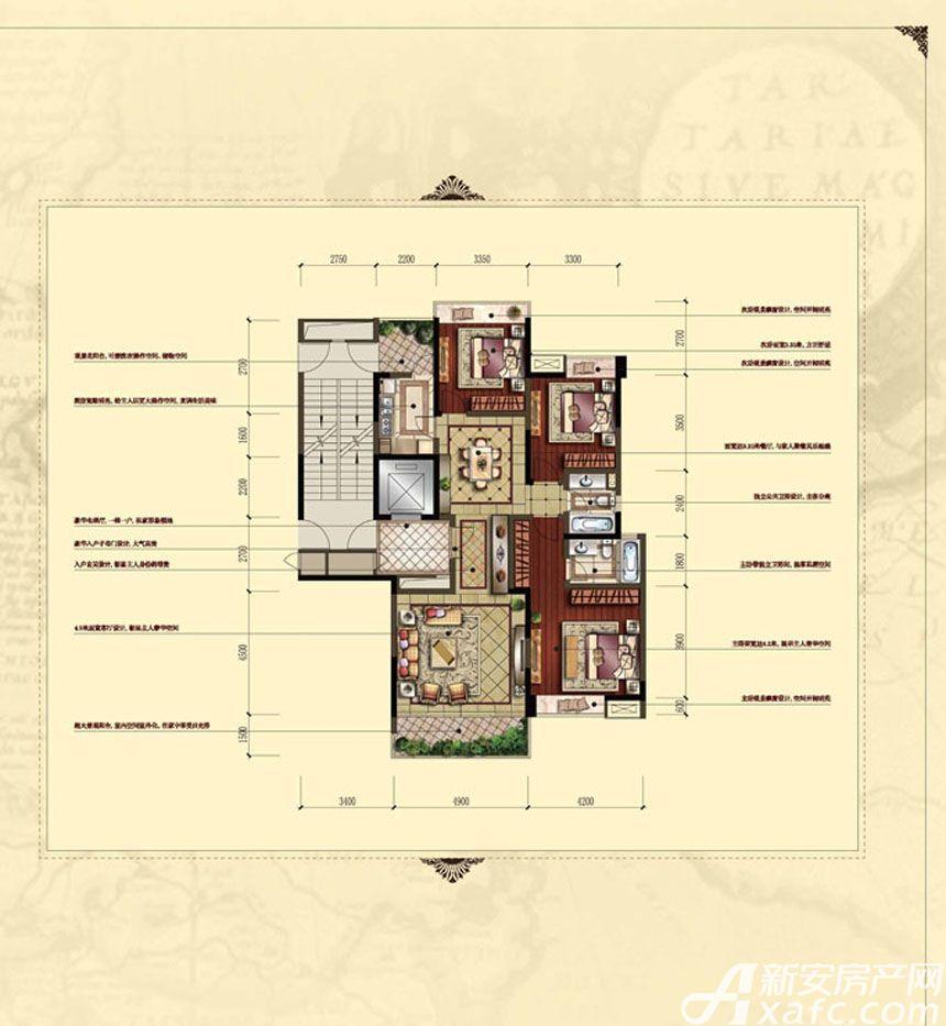 汇峰广场E2 E3户型3室2厅140.04平米