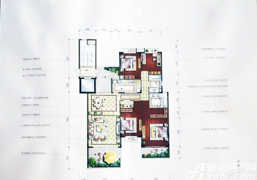 汇峰广场F2户型4室2厅183.18平米