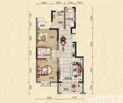迎春颐和城两室两厅两卫E1户型图2室2厅97.64㎡