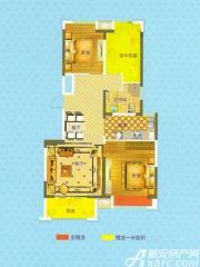 恒生阳光城E1户型2室2厅92.92㎡