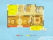 恒生阳光城B2户型2室2厅92.7㎡