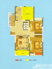 恒生阳光城A3户型2室2厅100.23㎡