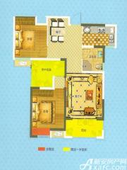 恒生阳光城A2户型2室2厅86.87㎡